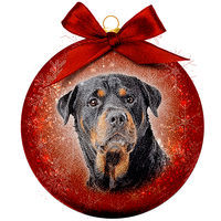 Kerstbal Frosted - Rottweiler