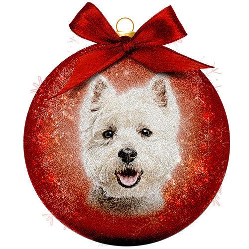 Boule de Noël Frosted - Westie