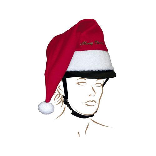 Weihnachtsmütze für den Reithelm