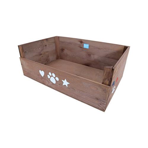 lief! Neutral Wooden Dog Bed