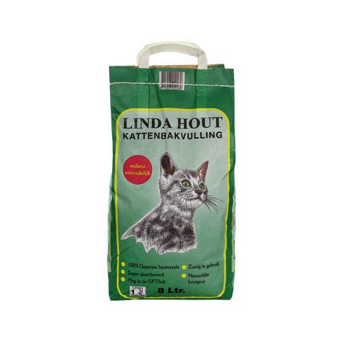Linda Katzenstreu aus Holz