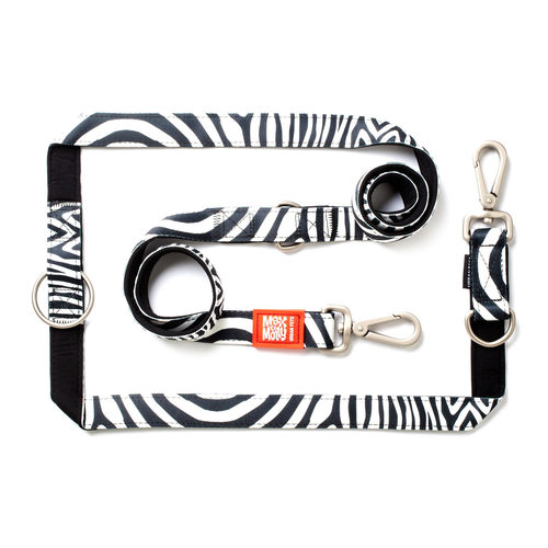 Max & Molly Multi-Function Hondenriem - Zebra