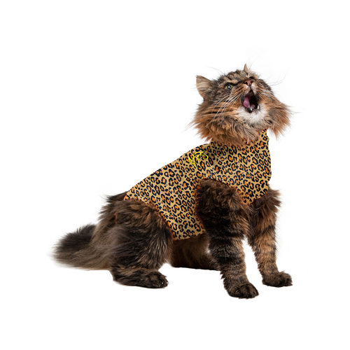 Medical Pet Shirt Katze Leopard-Muster