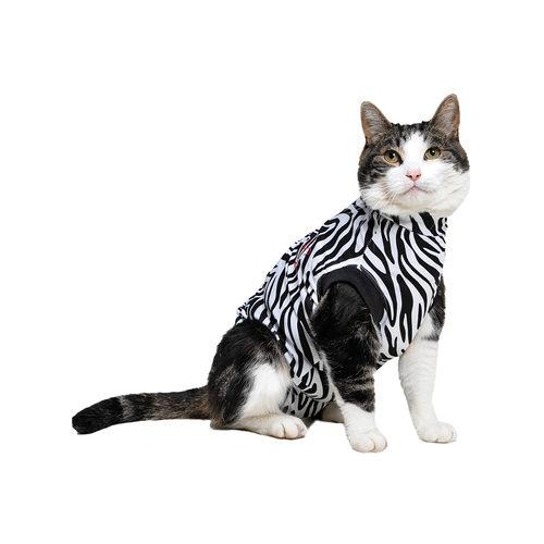 Medical Pet Shirt Katze Zebra-Muster