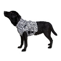 Medical Pet Top Shirt - Zebraprint