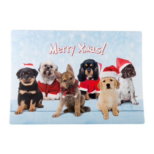 Merry Pets Kerst Placemat Hond