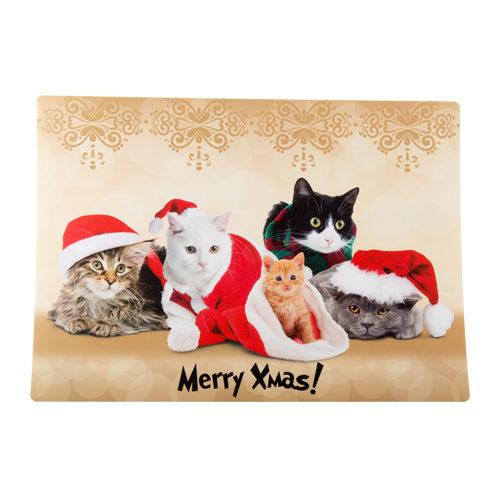 Merry Pets Weihnachtsuntersetzer Katze