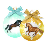 Merry Pets Christmas Bauble Horse