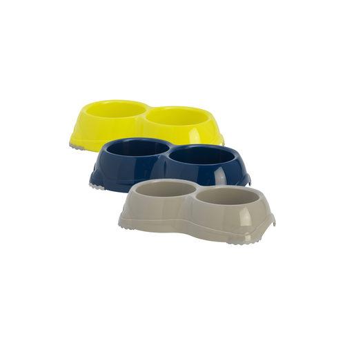 Moderna Plastic Dubbele Hondeneetbak