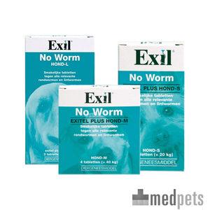 Product afbeelding van No Worm Exitel Plus Hond
