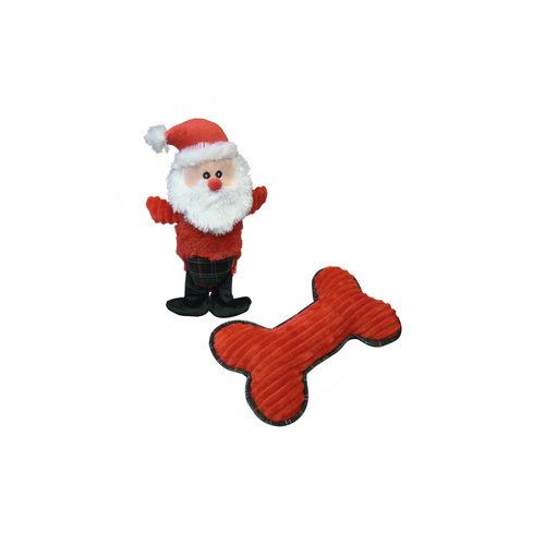 Nobby Plüsch Weihnachtsmann und Knochen