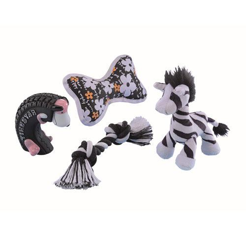 Nobby Puppy Starter Set Zwart/Wit