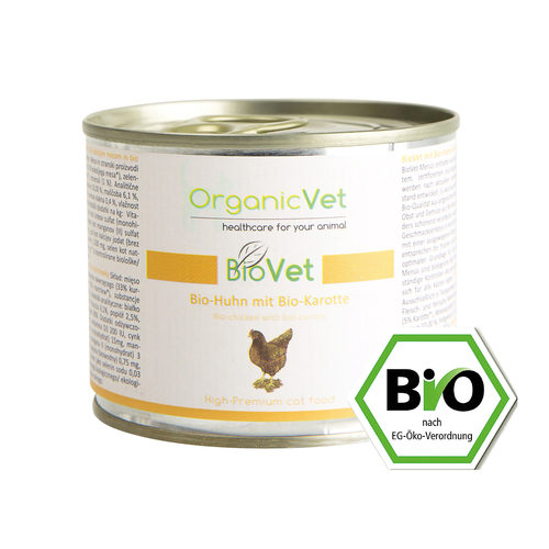 OrganicVet Cat BioVet - Biologische Kip - Blik