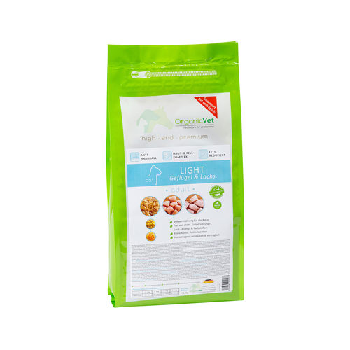 OrganicVet Cat Light - Gevogelte & Zalm