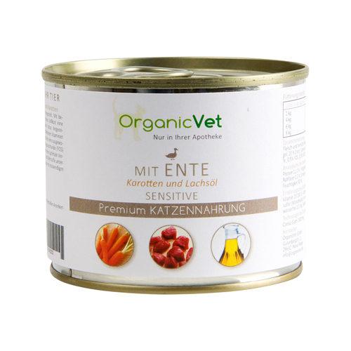 OrganicVet Cat Sensitive - Eend - Blik