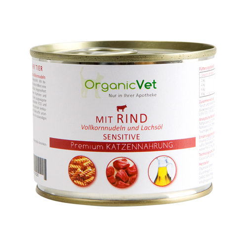 OrganicVet Cat Sensitive - Rund - Blik