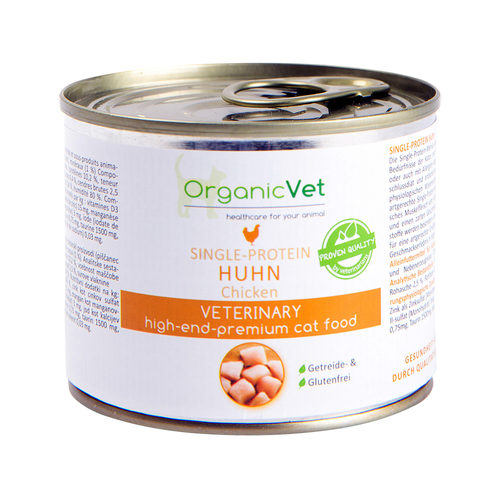 OrganicVet Cat Single Protein - Huhn - Dosen