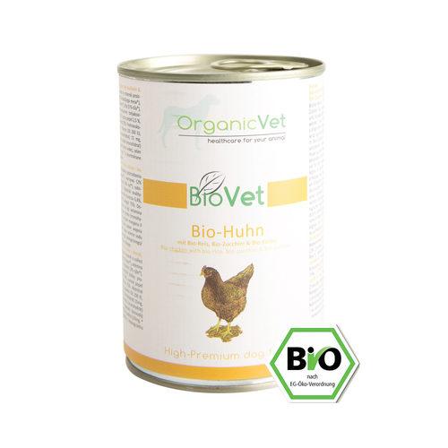OrganicVet Dog BioVet - Bio-Huhn - Dosen