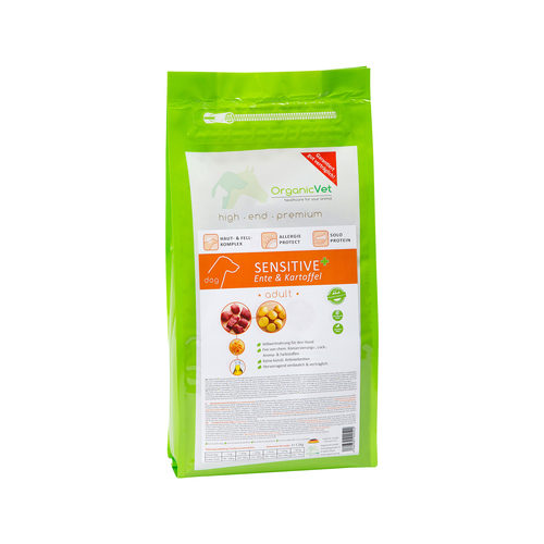 OrganicVet Dog Sensitive - Ente & Kartoffel