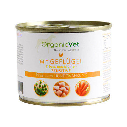 OrganicVet Dog Sensitive - Gevogelte - Blik