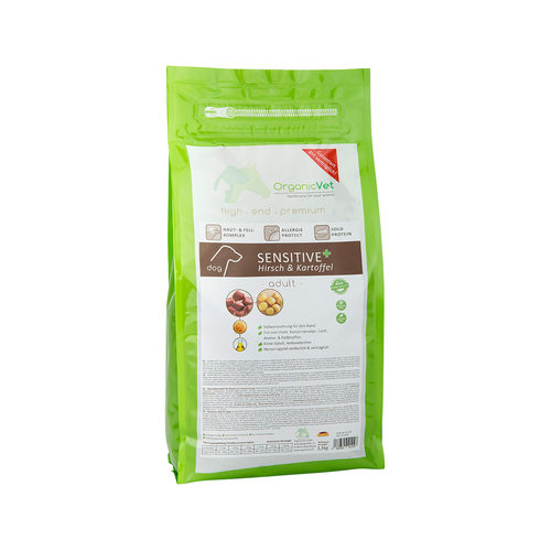 OrganicVet Dog Sensitive - Hirsch & Kartoffel