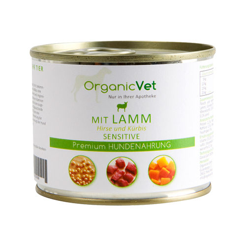 OrganicVet Dog Sensitive - Lam - Blik