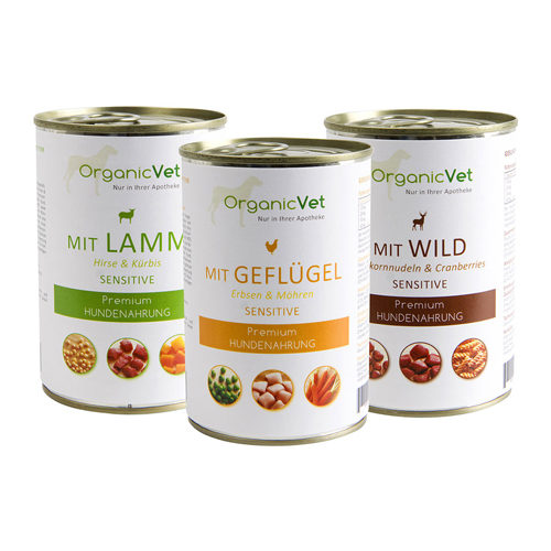 OrganicVet Dog Sensitive - Mix - Blik