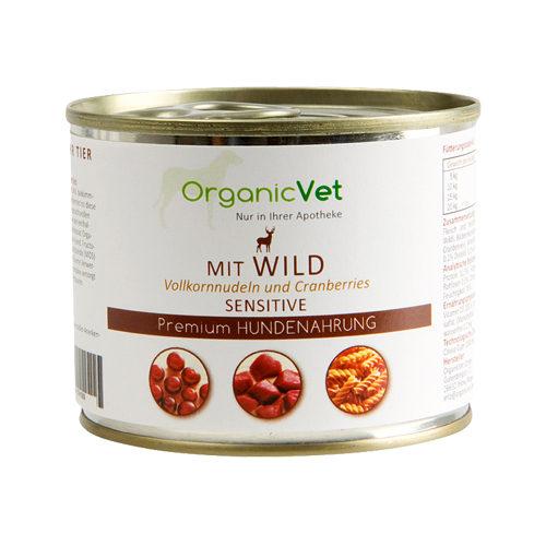 OrganicVet Dog Sensitive - Wild - Blik