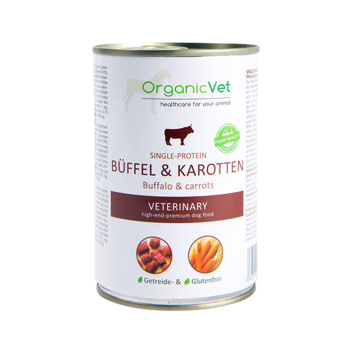 OrganicVet Dog Single-Protein - Büffel & Karotten