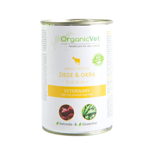 OrganicVet Dog Veterinary Diet Single Protein - Goat - Tin