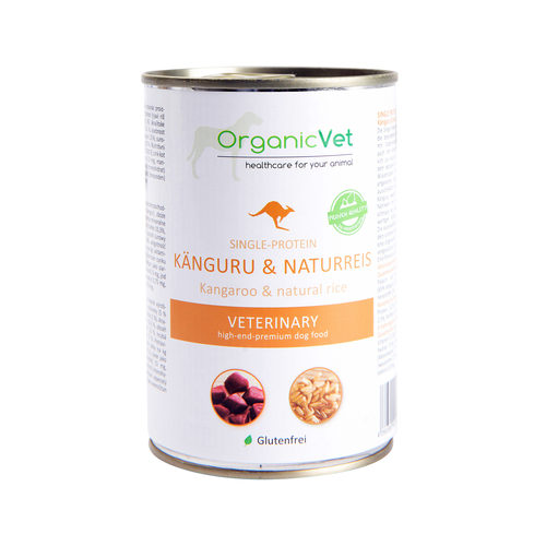 OrganicVet Dog Single-Protein - Känguru & Naturreis
