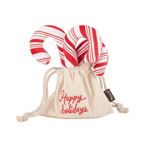 P.L.A.Y. Pet Holiday Classic Pluche - Candy Canes
