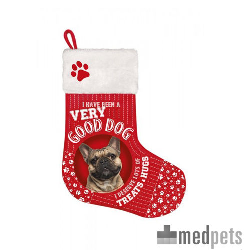 Product afbeelding van Plenty Gifts - Kerstsok Franse Bulldog