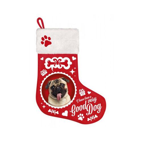 Plenty Gifts - Kerstsok Pug