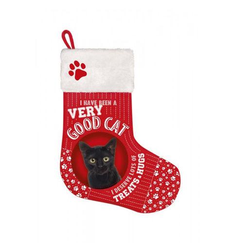Plenty Gifts - Kerstsok Zwarte Kat