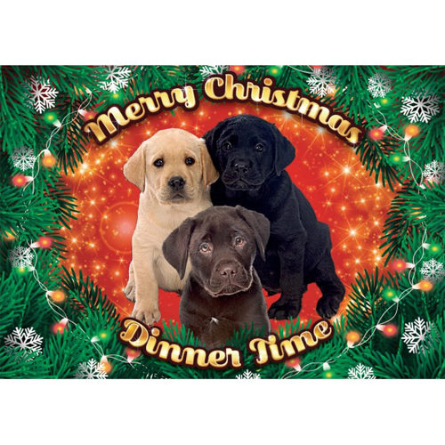 Plenty Gifts - Xmas Placemat Labrador Pups