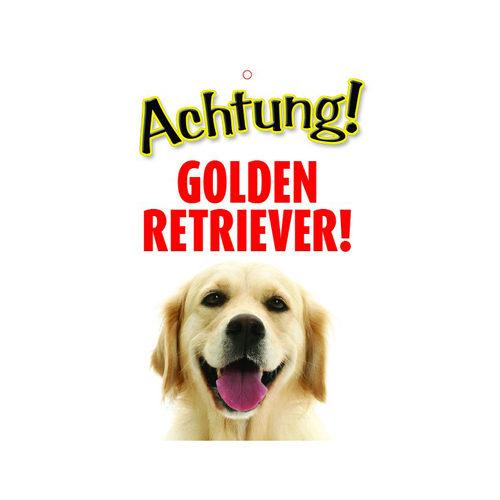 Plenty Gifts Warnzeichen - Golden Retriever