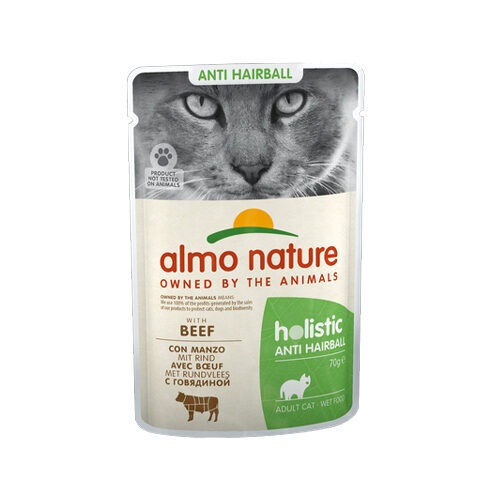 Almo Nature - Cat - Anti-Hairball | Meal Pouch | Beef