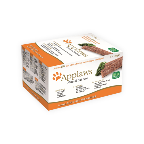 Applaws Cat Food -Paté with Turkey, Beef & Ocean Fish Multipack