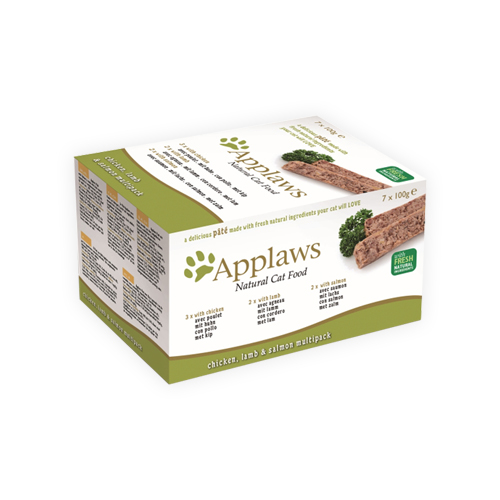 Applaws Cat - Multipack Pâté au Poulet, Agneau & Saumon - pour Chat