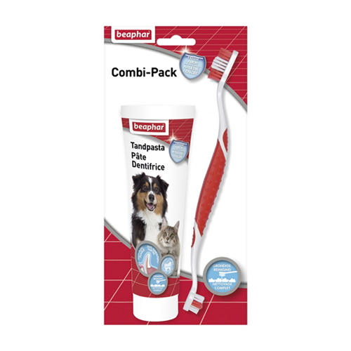 Beaphar Combi-pack Dentifrice + Brosse à Dents Chien & Chat