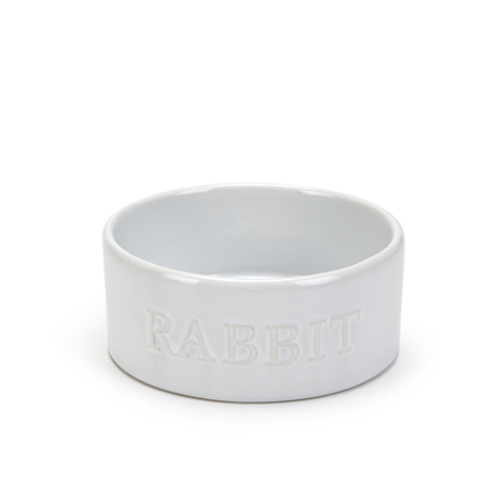 Beeztees Ceramic Rabbit Dish Bunny