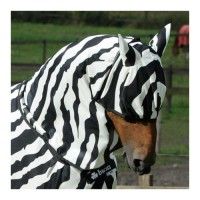 Bucas Buzz-Off Zebra - Masque Anti-Mouches pour Cheval