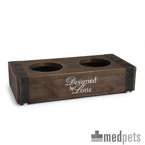 Designed by lotte porte gamelles en bois chien - Porte gamelle chien design ...