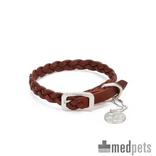 Produktbild von Designed by Lotte - Leder Halsband und Hundeleine Braun