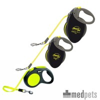 Flexi Rollijn Neon - Tape Leash