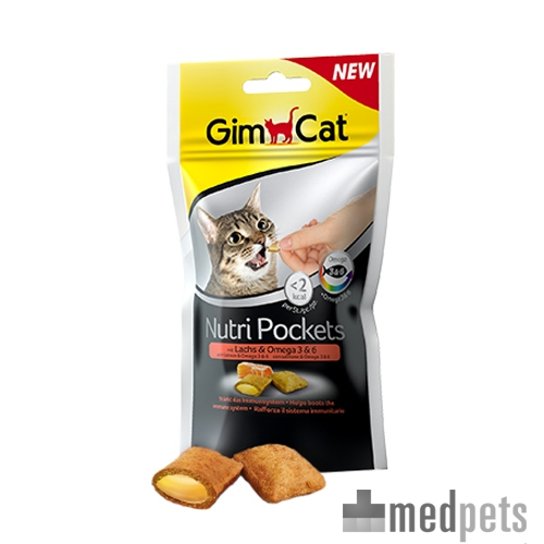 Product afbeelding van GimCat Nutri Pockets with Salmon and Omega 3 & 6