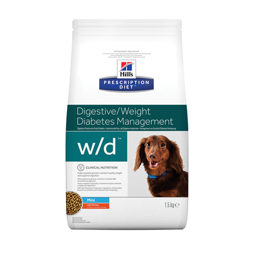 Hill's w/d Mini Low Fat/Diabetes/Colitis - Prescription Diet - Canine