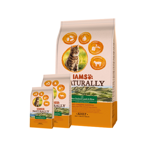 IAMS Naturally Cat - Lamb & Rice