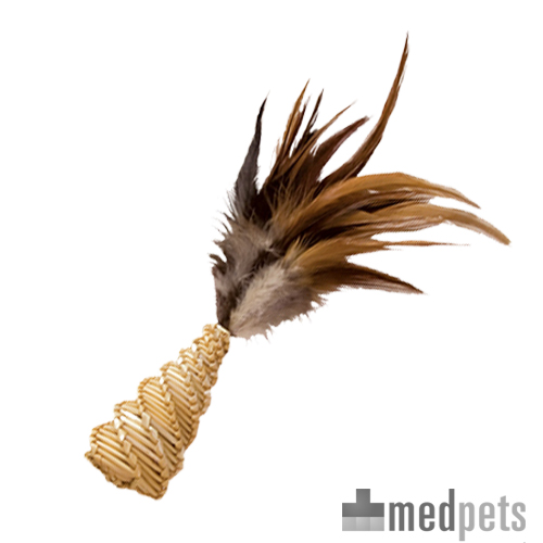 KONG Cat - Straw Cone mit Federn